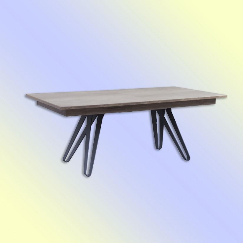 table dessus ch ne avec pieds obliques en m tal ajour tinazo. Black Bedroom Furniture Sets. Home Design Ideas